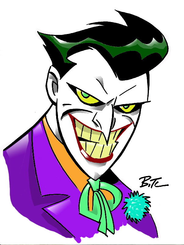 Lets Draw Bruce Timms Joker