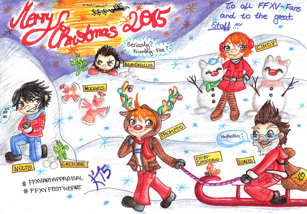 Final Fantasy XV Christmas outdoo activities by thekatkac on ...