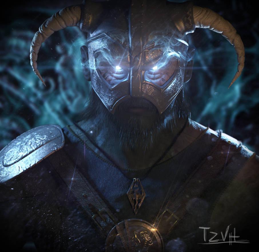 Dovahkiin 3D Portrait by TZVH