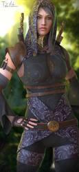Tali'Zorah Dragon Age crossover by TZVH