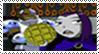 Raven waffles stamp by RedSlashwolf
