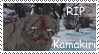 RIP Kamakiri stamp by RedSlashwolf