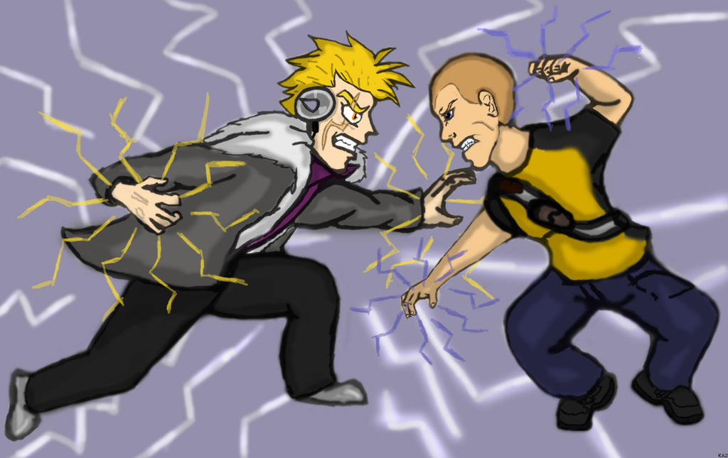 Laxus Dreyar Vs Cole Macgrath by RedSlashwolf on deviantART
