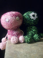 Pink and Cy MiniStuffiez by Stuffiez