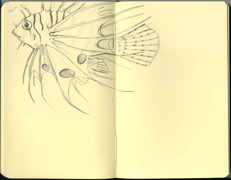 Moleskine - LionFish by BrokenMasque