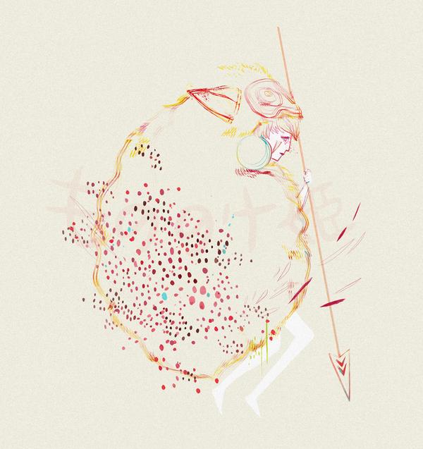 mononoke hime by BrokenMasque