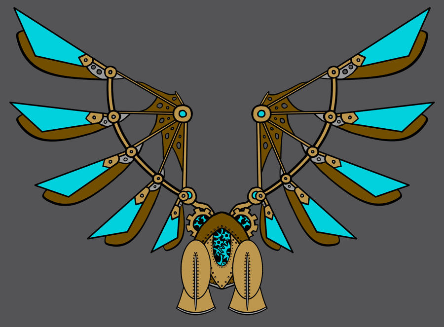 Steampunk Wings by octocentesquiderfish
