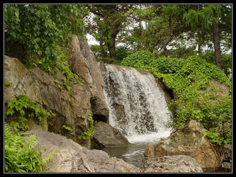Japanese Waterfall Garden 2 by Aeires