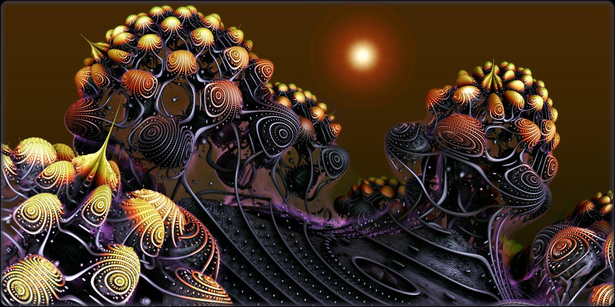 Alien Blooms by Len1