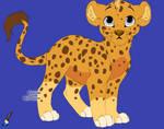 Little Isaac James Jr. as a leapord/lion cub