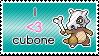 Cubone stamp by ichadoggi