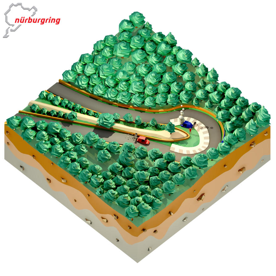 Low Poly Scene : Nurburgring by kautsar211086