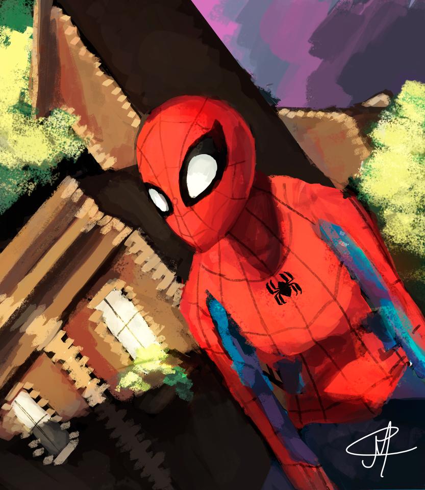 Spider Man at The Sun Set by MarcoAntonioMoreira