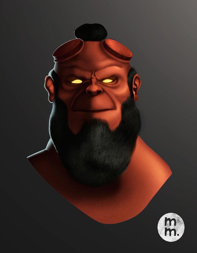 Fanart- Hellboy by MarcoAntonioMoreira