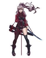 2 SWORDS GIRL by Mkuchima
