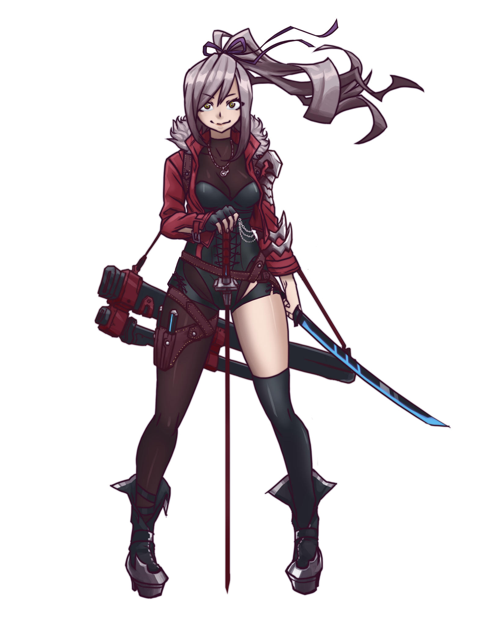 Anime Characters Using Sword : Swords girl by mkuchima on deviantart