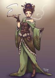 Steampunk Geisha by Mkuchima