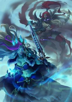 Frost Lich Jaina vs Valeera The Hollow