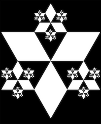 Fractals in Hexels - Bishi Triangle