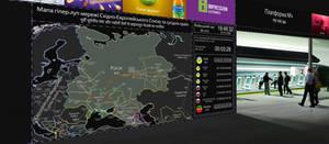 Map of the hyperloop network of the EEU in 2062