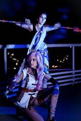 Fang and Lightning at Night III by RachAsakawa