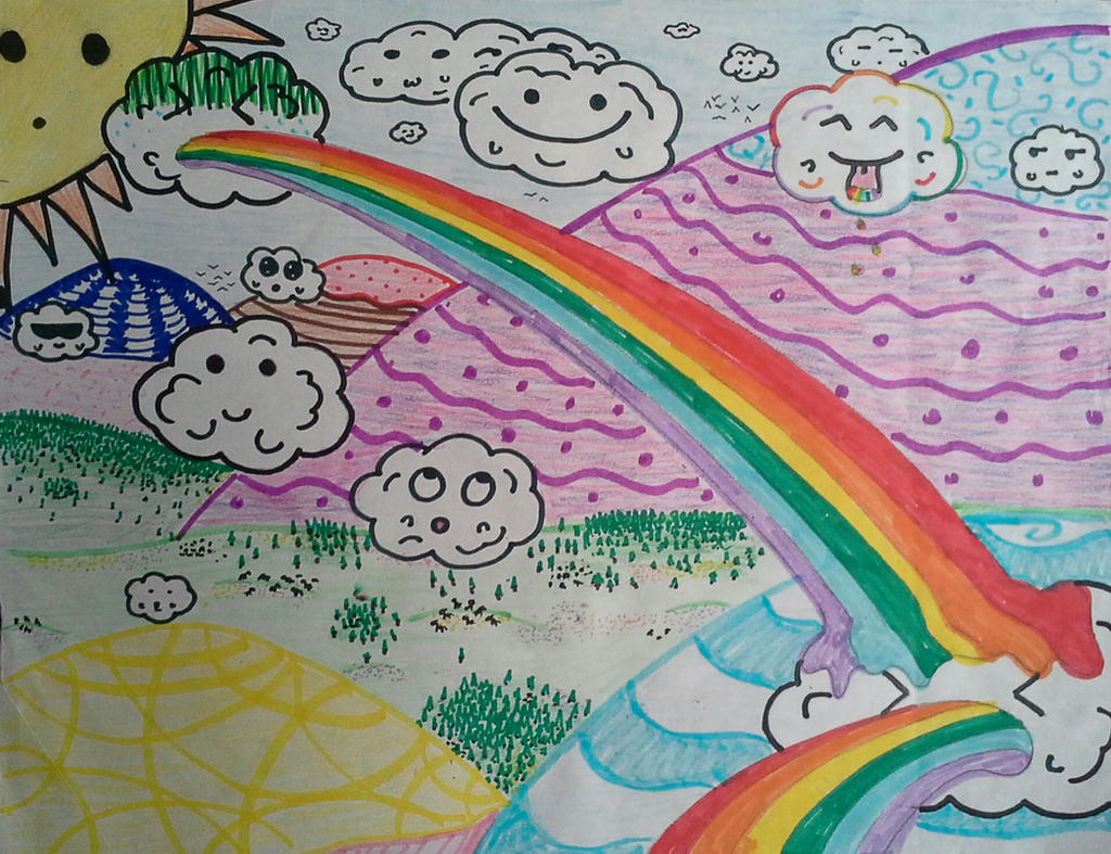 Rainbow Sickness by FantasyArt99