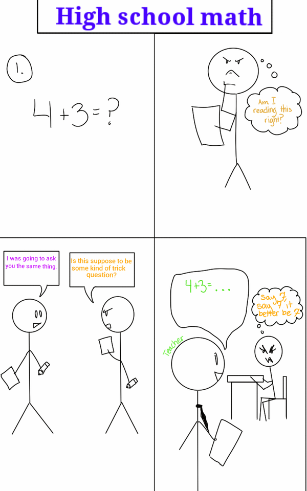 That moment in math class by FantasyArt99