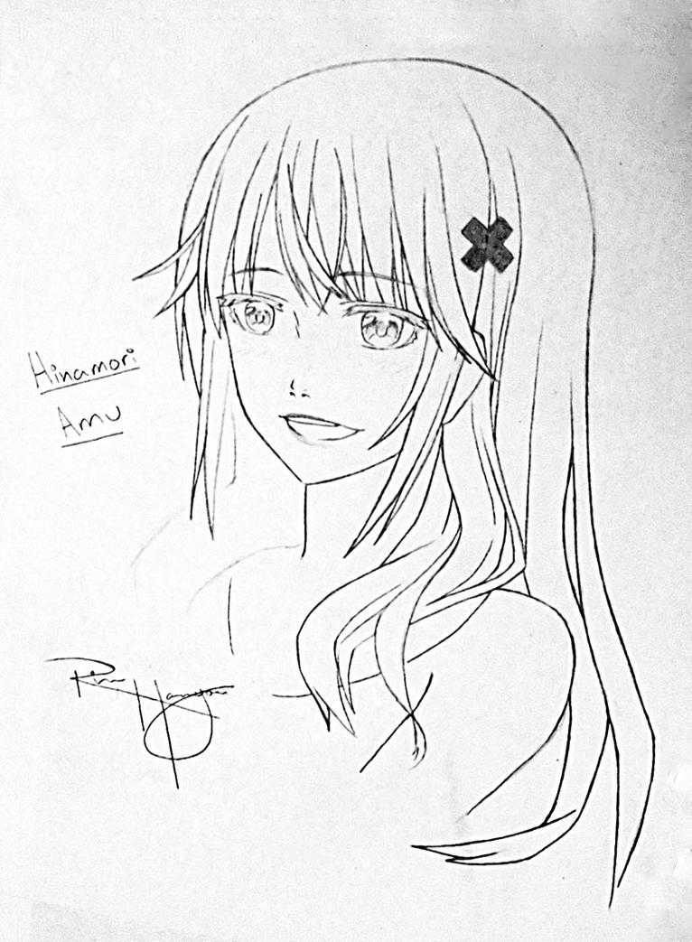 Hinamori Amu- Sketch Outline by HACKproductions