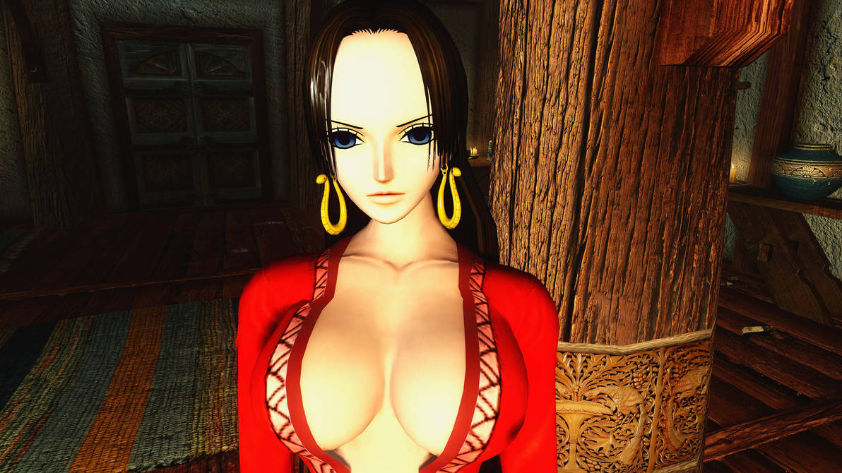One Piece Boa Hancock Follower skyrim mod 4K by user619 on DeviantArt