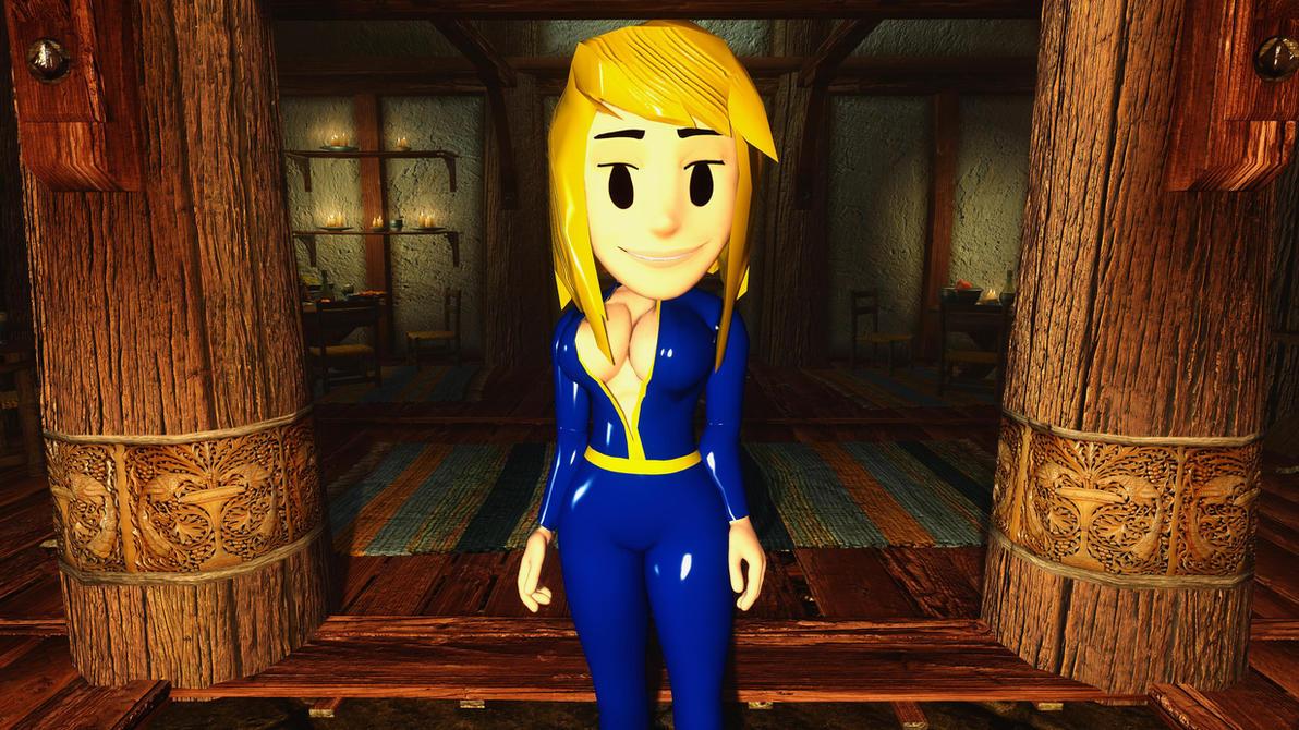 vault girl follower skyrim mod pic 1 4k by user619 on