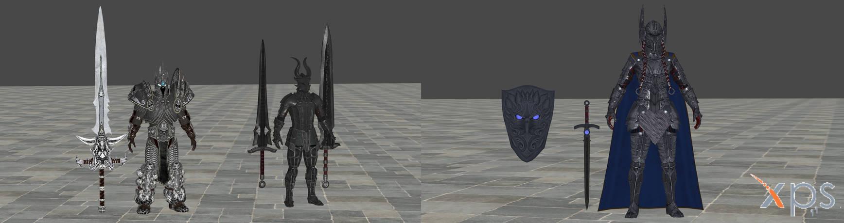 Skyrim Armor Mods For XNALara Pack 2 by user619 on DeviantArt