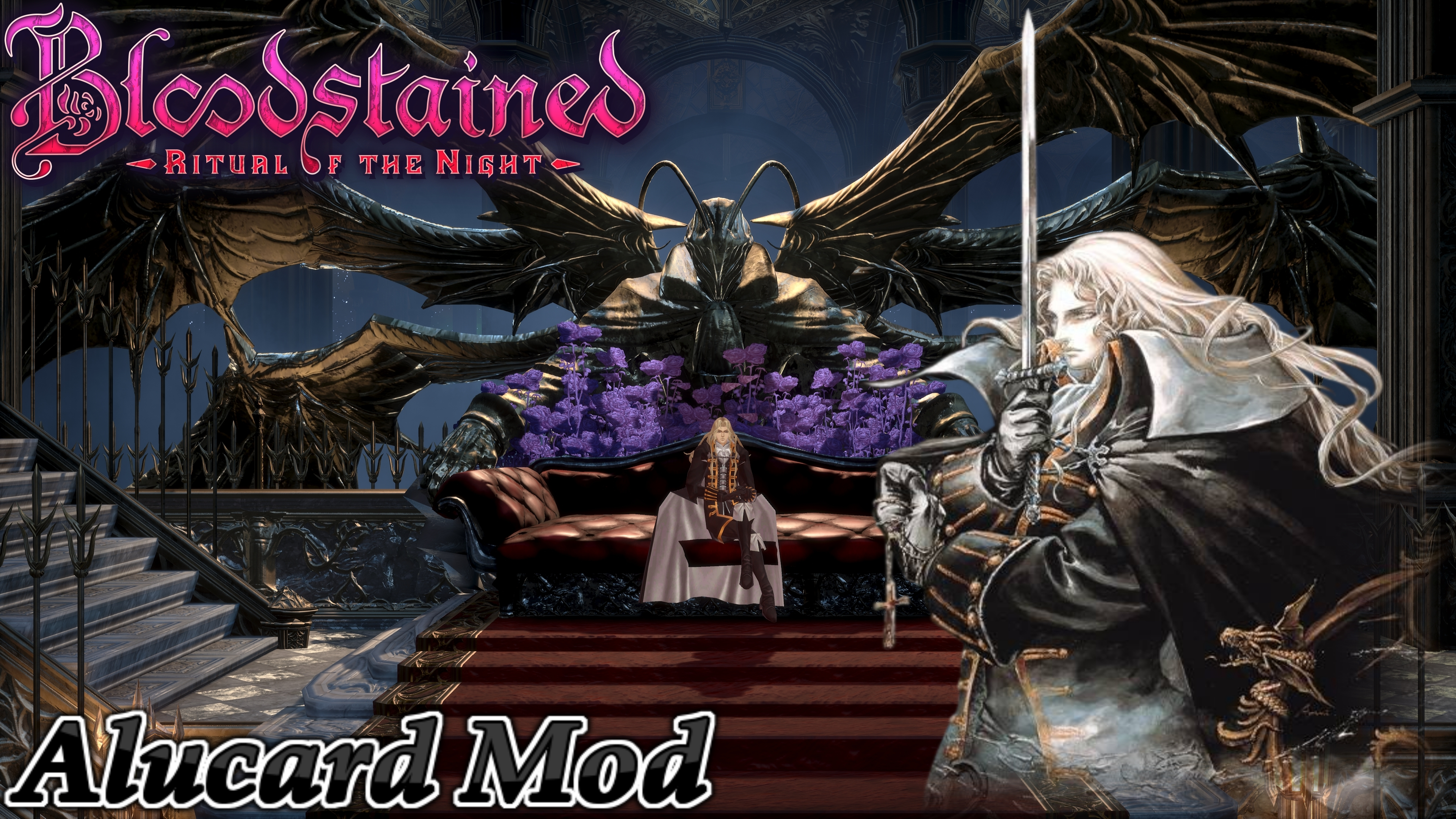 Bloodstained Rotn Castlevania Sotn Alucard Mod By User619 On