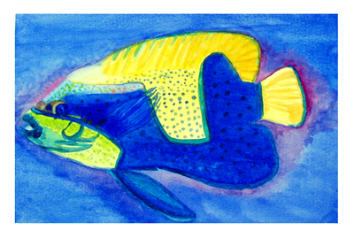 Watercolor fish by camie-frenchie