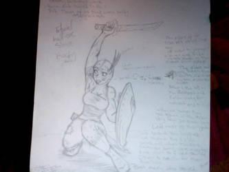 Baragh, Half-Orc slave WIP by voodoospunk