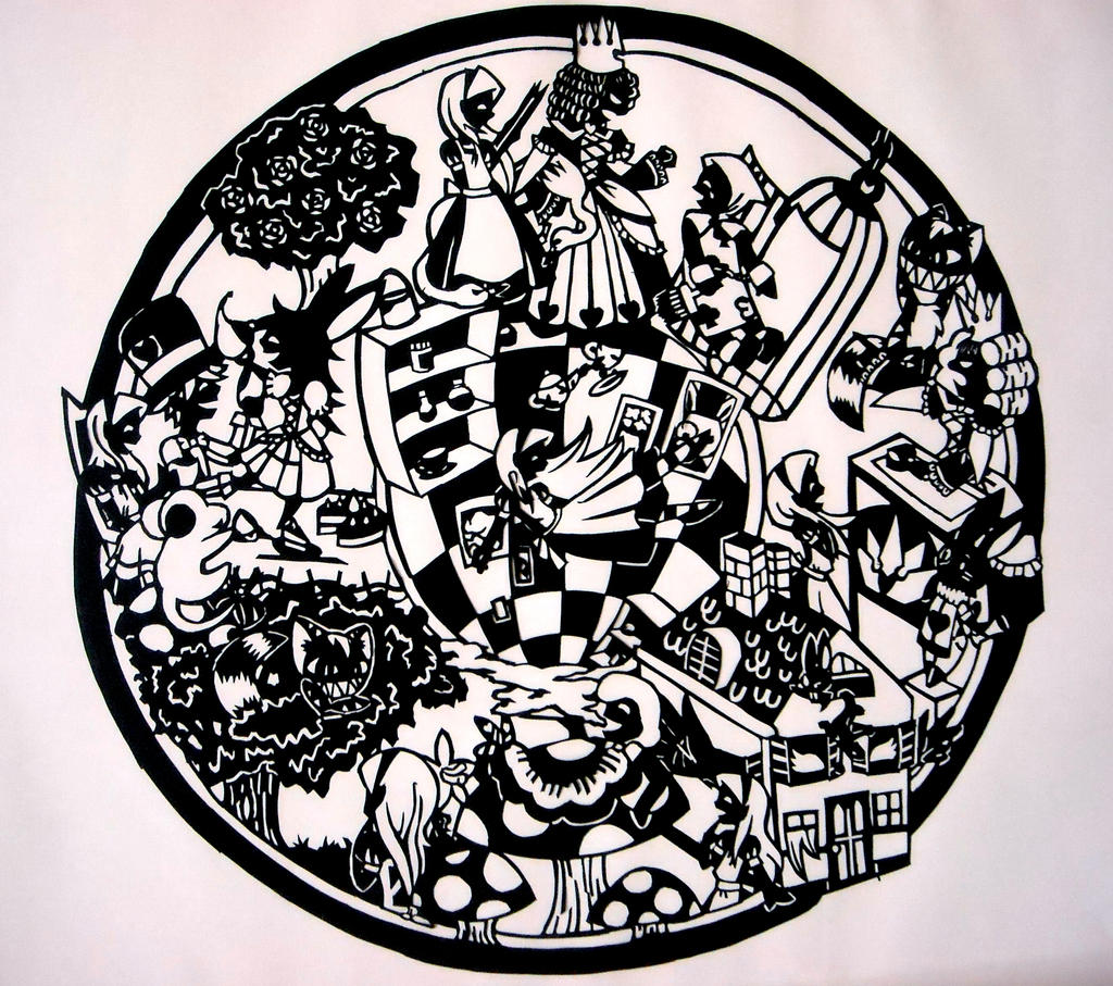 Alice in Wonderland - Papercut by Dj-Mewmew