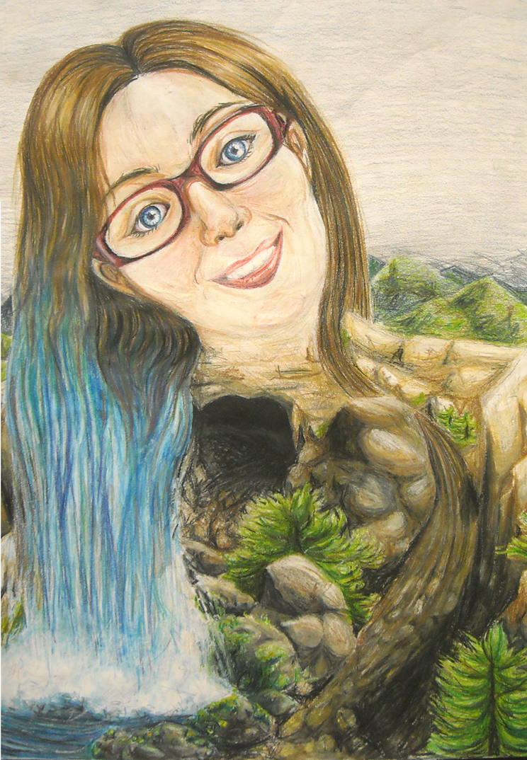 Surreal Self Portrait by Dj-Mewmew