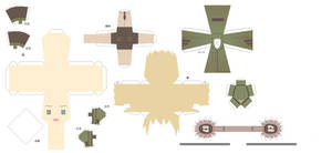 Hetalia Papercraft-Fem Germany
