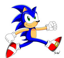 Sonic style 6 colored by JediSonic