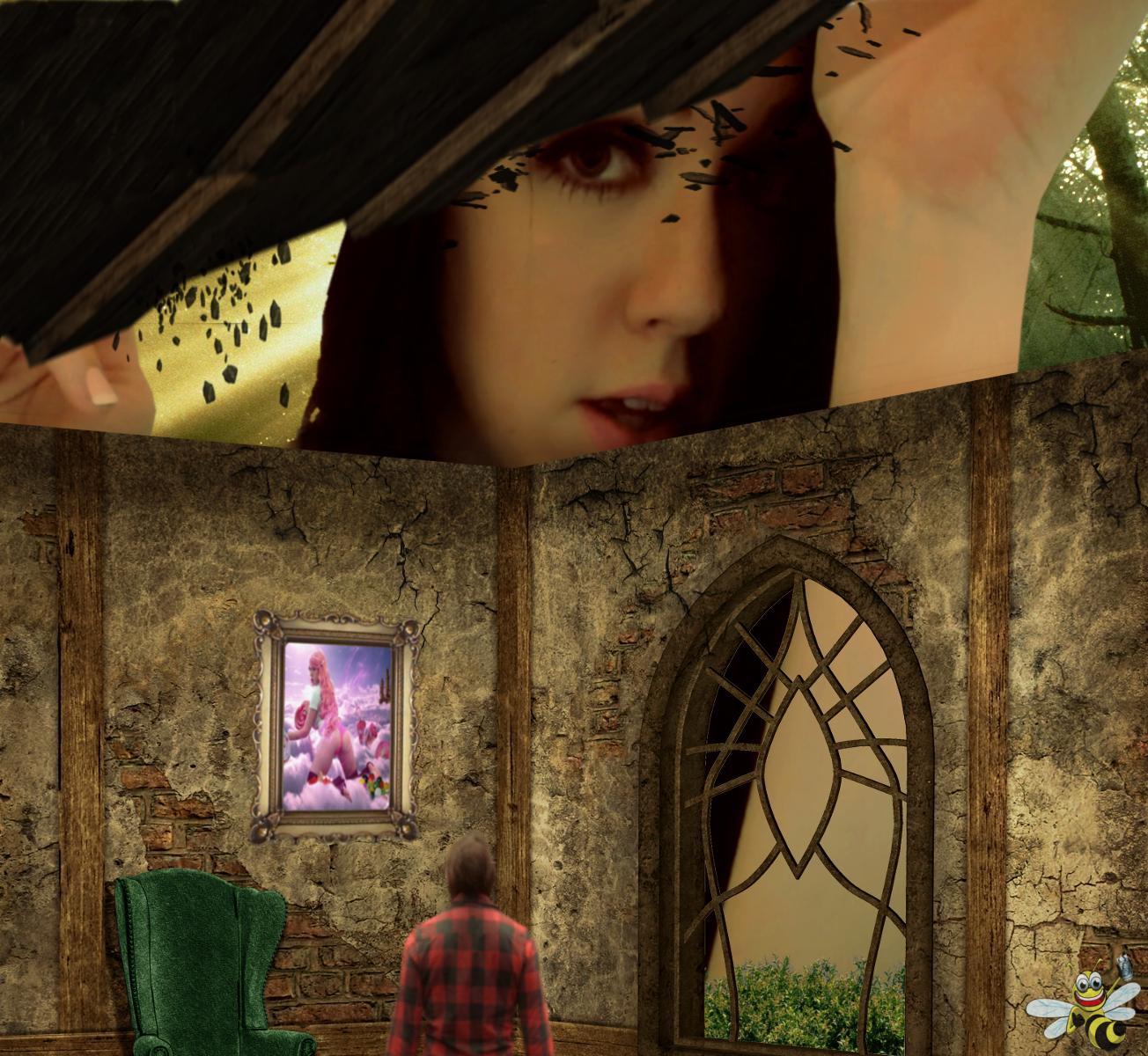 Sneaking a Peek (Kayla Kiss) by LittleBee8705