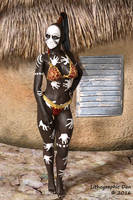 Tribal Handprints Pinup by LithographicDan