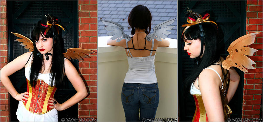 New Steampunk Wings by yayacosplay