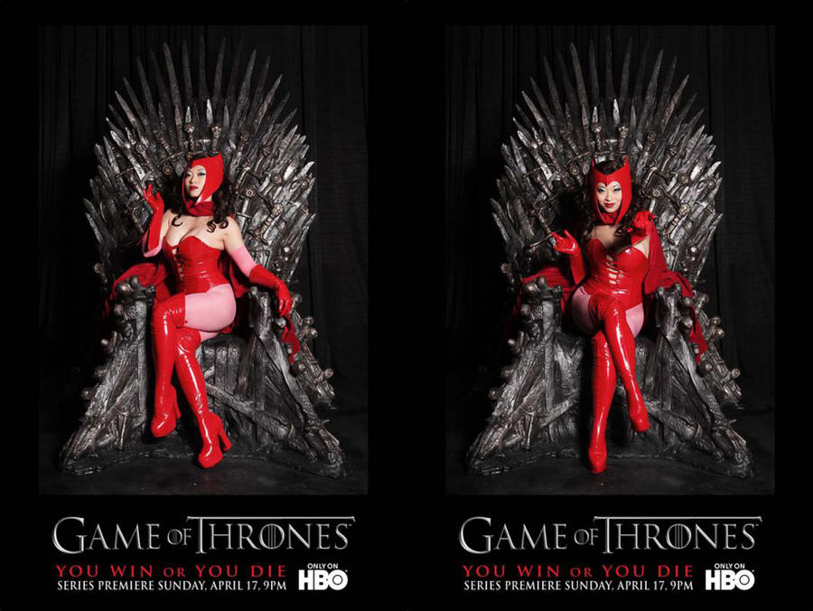 Scarlet Witch on Iron Throne