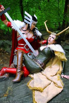 Sif versus Loki -Marvel's Thor