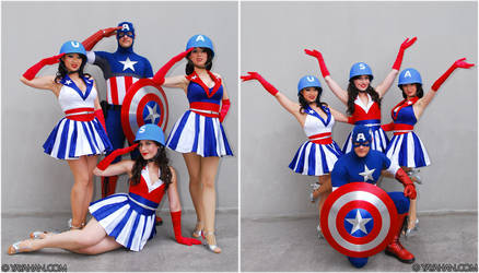Captain America + USA Girls