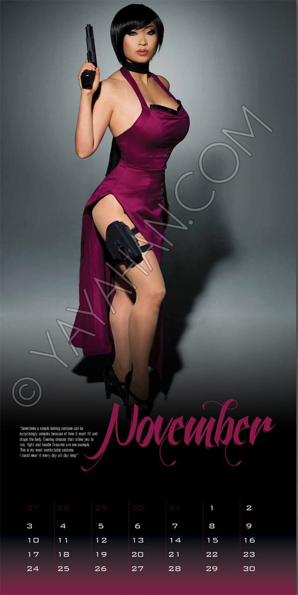 2013 Calendar layout - Ada Wong - November by yayacosplay