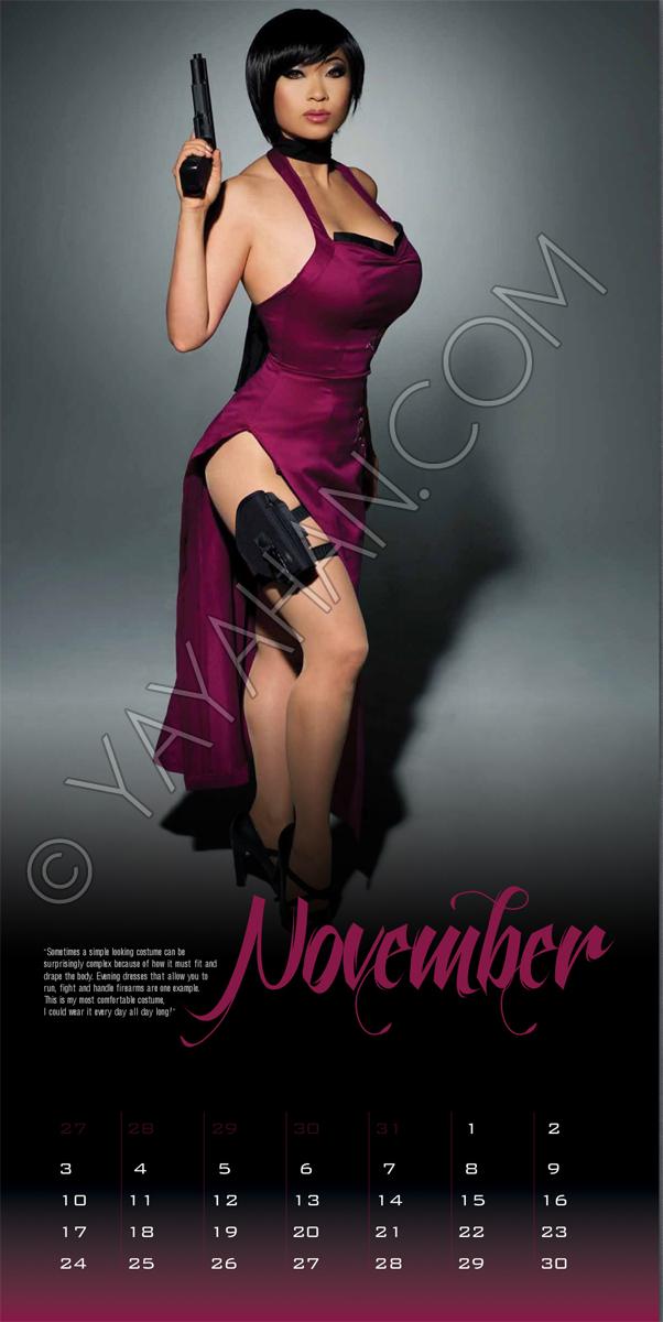 2013 Calendar layout - Ada Wong - November by yayacosplay