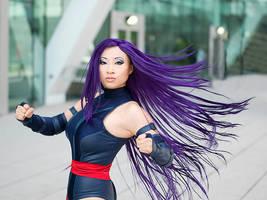Psylocke Hairflip by yayacosplay