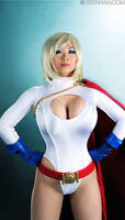 Power Girl: static Hero Pose by yayacosplay