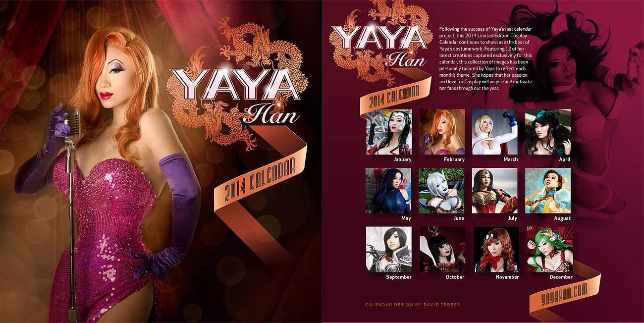 Announcing: 2014 Yaya Han Cosplay Calendar by yayacosplay