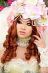 Sakizou White Rose Portrait